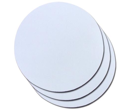 Mouse Pad Branco em Latex Para Sublimação Redondo 19,5 X 19,5