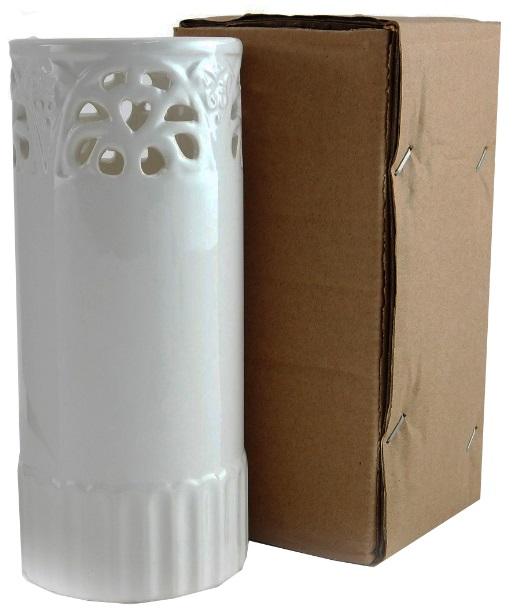 Vaso Branco Cilíndrico Resinado Para Sublimação em Cerâmica 20A X 8,6L CM  - ALFANETI COMERCIO DE MIDIAS E SUBLIMAÇÃO LTDA-ME