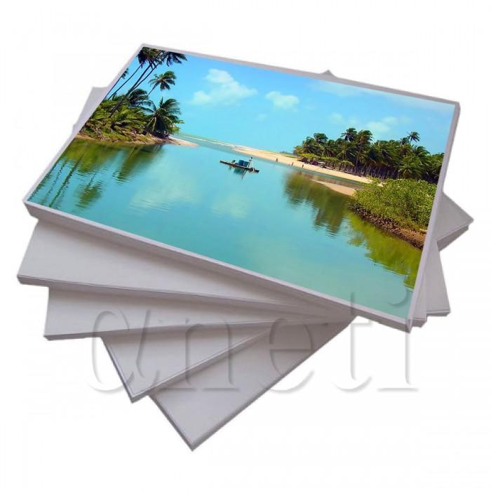 Papel Fotográfico Glossy ( Brilhante ) Adesivo A4 135gr  - ALFANETI COMERCIO DE MIDIAS E SUBLIMAÇÃO LTDA-ME