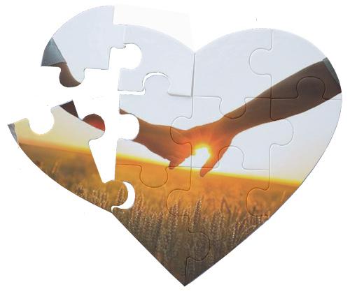 Quebra Cabeça Branco Para Sublimação Coração 10 Peças  - ALFANETI COMERCIO DE MIDIAS E SUBLIMAÇÃO LTDA-ME
