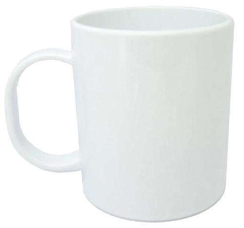 Caneca Plástica Sublimática Branca (Polímero) Classe AAA 325mL   - ALFANETI COMERCIO DE MIDIAS E SUBLIMAÇÃO LTDA-ME