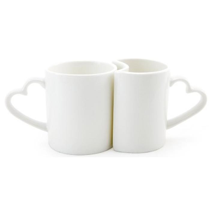Caneca Branca Namorado Resinadas para Sublimação Classe-A (2 peças)