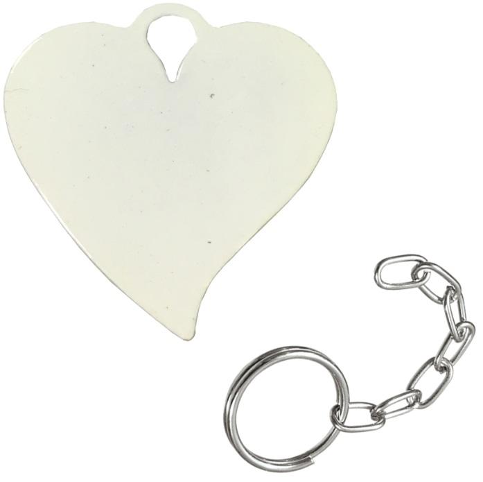 Chaveiro sublimático Branco (Coração)