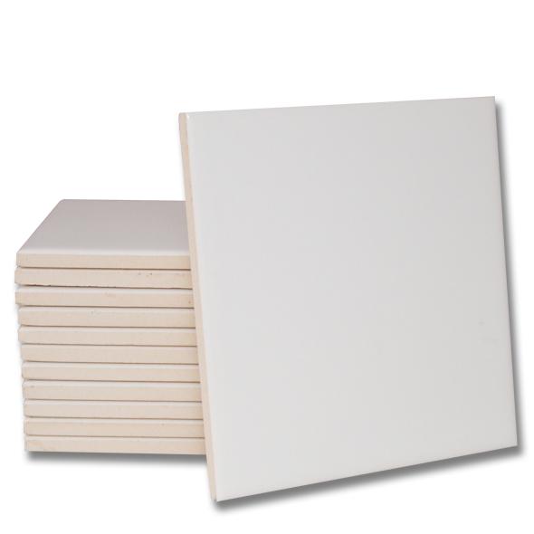 Porcelanato Branco de Cerãmica para sublimação 15x15CM (Auto brilho)