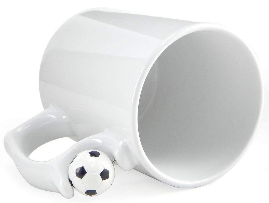 Caneca Branca para Sublimação Classe A (ALÇA BOLA DE FUTEBOL)  - ALFANETI COMERCIO DE MIDIAS E SUBLIMAÇÃO LTDA-ME