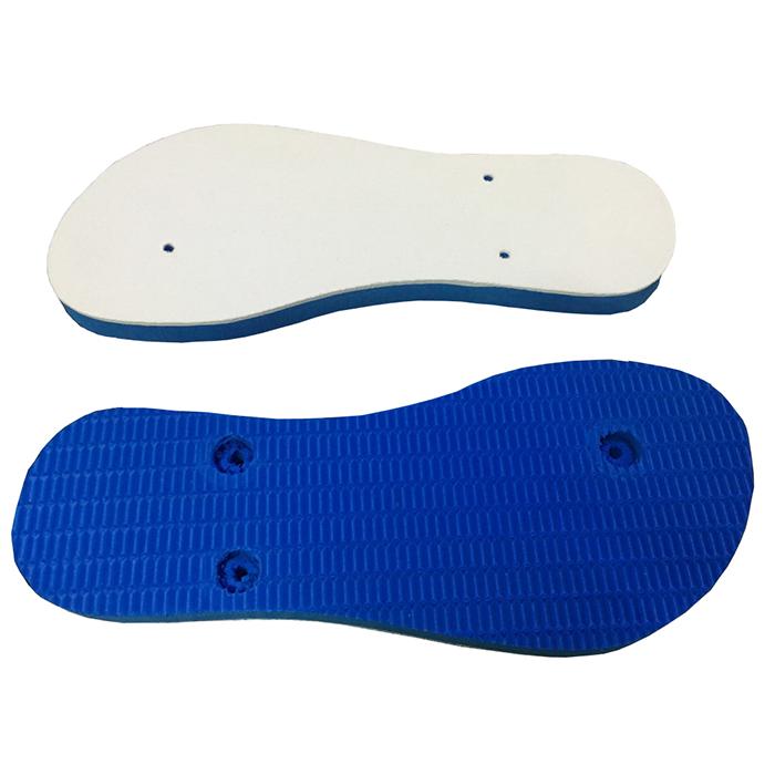 Chinelo e Tiras Azul Claro Com Tecido Branco Para Sublimação  - ALFANETI COMERCIO DE MIDIAS E SUBLIMAÇÃO LTDA-ME