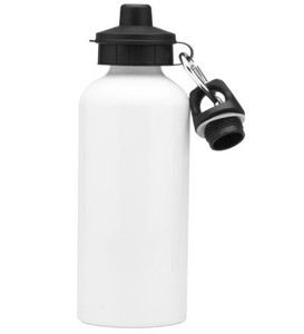Squeeze de Aluminio Resinado Para Sublimação Com dois Bicos e Caixa- 500ml (BRANCO)