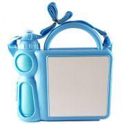 Lancheira Infantil de Plástico para Sublimação - Azul