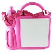 Lancheira Infantil de Plástico para Sublimação - Rosa