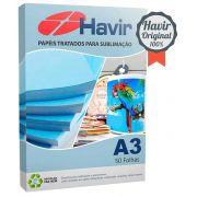 Papel Resinado Para Sublimação Havir 90g (FUNDO AZULÃO) . A3