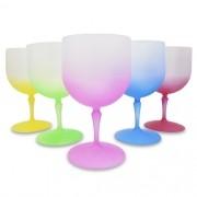 Taça Gin em Acrílico Fosca Com Degradê Colorido - 750ml