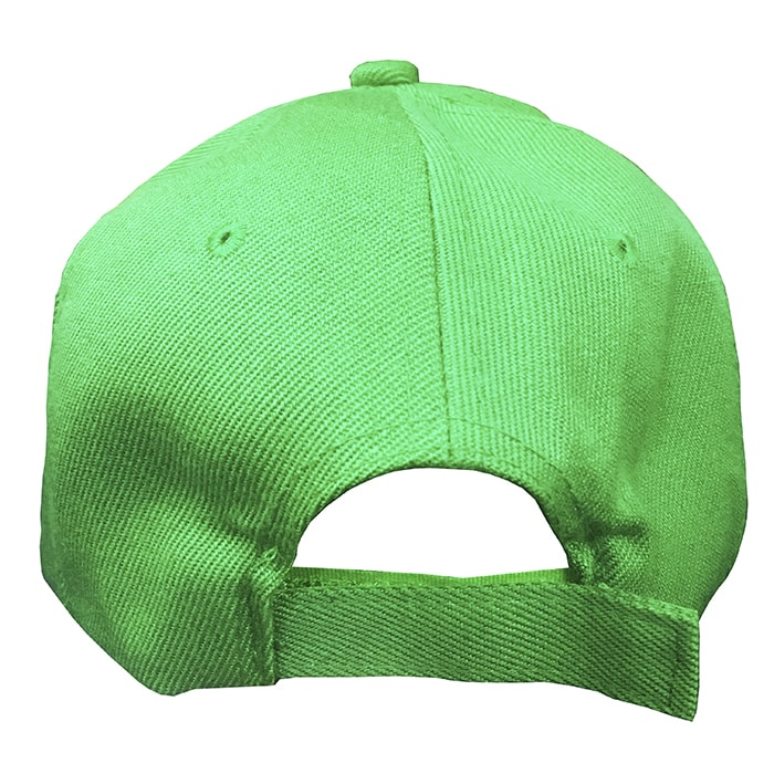 Boné Verde em Poliéster para Sublimação com fecho de contato tipo velcro.