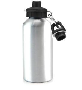 Squeeze de Aluminio Resinado Para Sublimação Com dois Bicos e Caixa- 500ml (PRATA)
