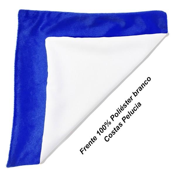 Capa de Almofada Sublimática 40x40 (Frente branca e fundo azul)