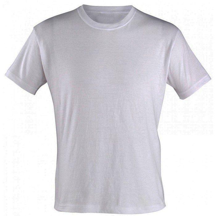 30uni Camisetas Branca para Sublimação Gola careca (ADULTO)