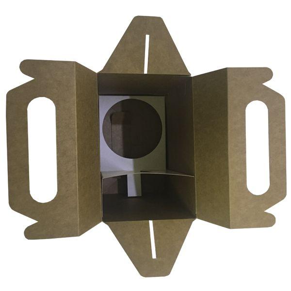 Caixinha branca para caneca de chopp (com janela e suporte interno)  - ALFANETI COMERCIO DE MIDIAS E SUBLIMAÇÃO LTDA-ME