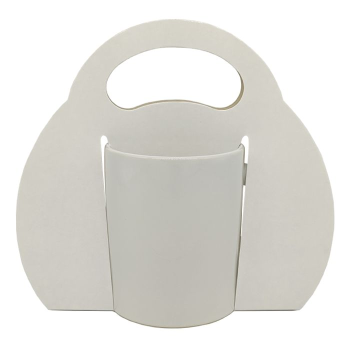 Caixinha branca Sublimática para caneca - ( Tipo bolsa com Alça tradicional)  - ALFANETI COMERCIO DE MIDIAS E SUBLIMAÇÃO LTDA-ME