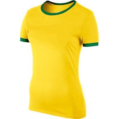 Camiseta Baby look verde e amarelo para Sublimação Gola careca (POLIÉSTER)