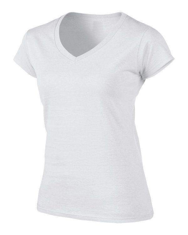 Camiseta Branca para Sublimação (Baby look gola V)