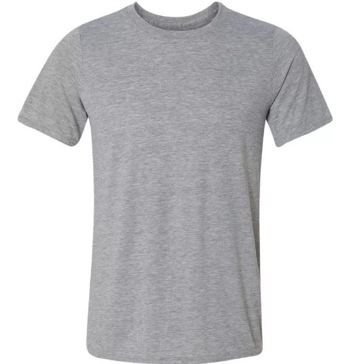 Camiseta cinza para Sublimação Gola careca adulto (PREMIUM)  - ALFANETI COMERCIO DE MIDIAS E SUBLIMAÇÃO LTDA-ME