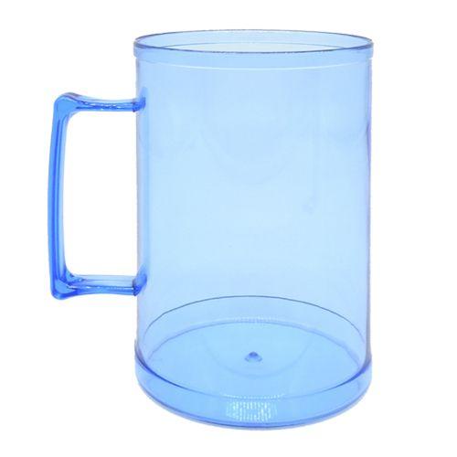 Caneca de Chopp em Acrílico - 500ml  (Azul)  - ALFANETI COMERCIO DE MIDIAS E SUBLIMAÇÃO LTDA-ME
