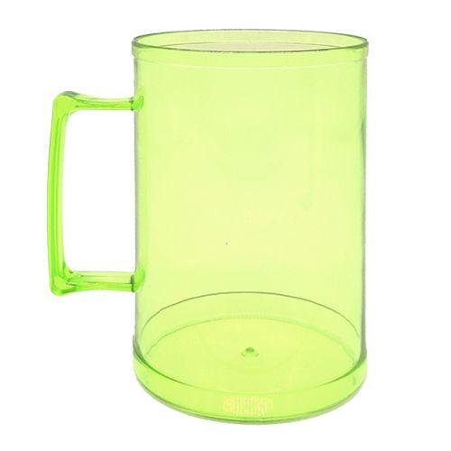 Caneca de Chopp em Acrílico - 500ml  (Verde neon)  - ALFANETI COMERCIO DE MIDIAS E SUBLIMAÇÃO LTDA-ME