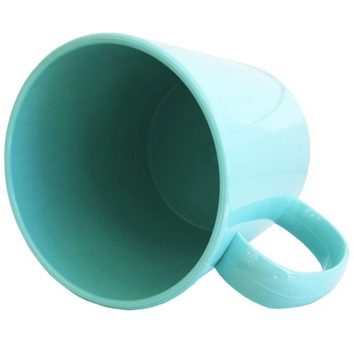 Caneca de plástico AZUL para Sublimação (Polímero) Classe AAA 325 mL