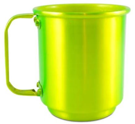 Caneca para Sublimação de Alumínio 500ml na cor (Verde Limão)  - ALFANETI COMERCIO DE MIDIAS E SUBLIMAÇÃO LTDA-ME