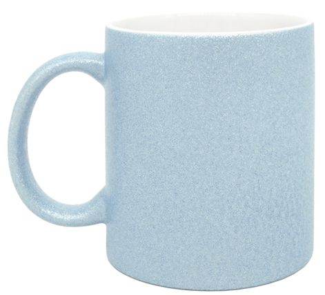 Caneca para Sublimação de Cerâmica Glitter Azul - Classe A  - ALFANETI COMERCIO DE MIDIAS E SUBLIMAÇÃO LTDA-ME