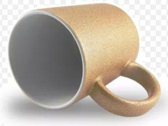 Caneca para Sublimação de Cerâmica Glitter Bronze - Classe A  - ALFANETI COMERCIO DE MIDIAS E SUBLIMAÇÃO LTDA-ME