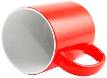 Caneca para Sublimação de Cerâmica Neon Vermelho  - ALFANETI COMERCIO DE MIDIAS E SUBLIMAÇÃO LTDA-ME