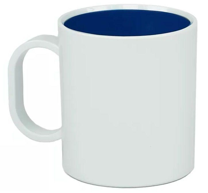 Caneca Plástica Sublimática Interior Azul (Polímero) Classe AAA 325 mL