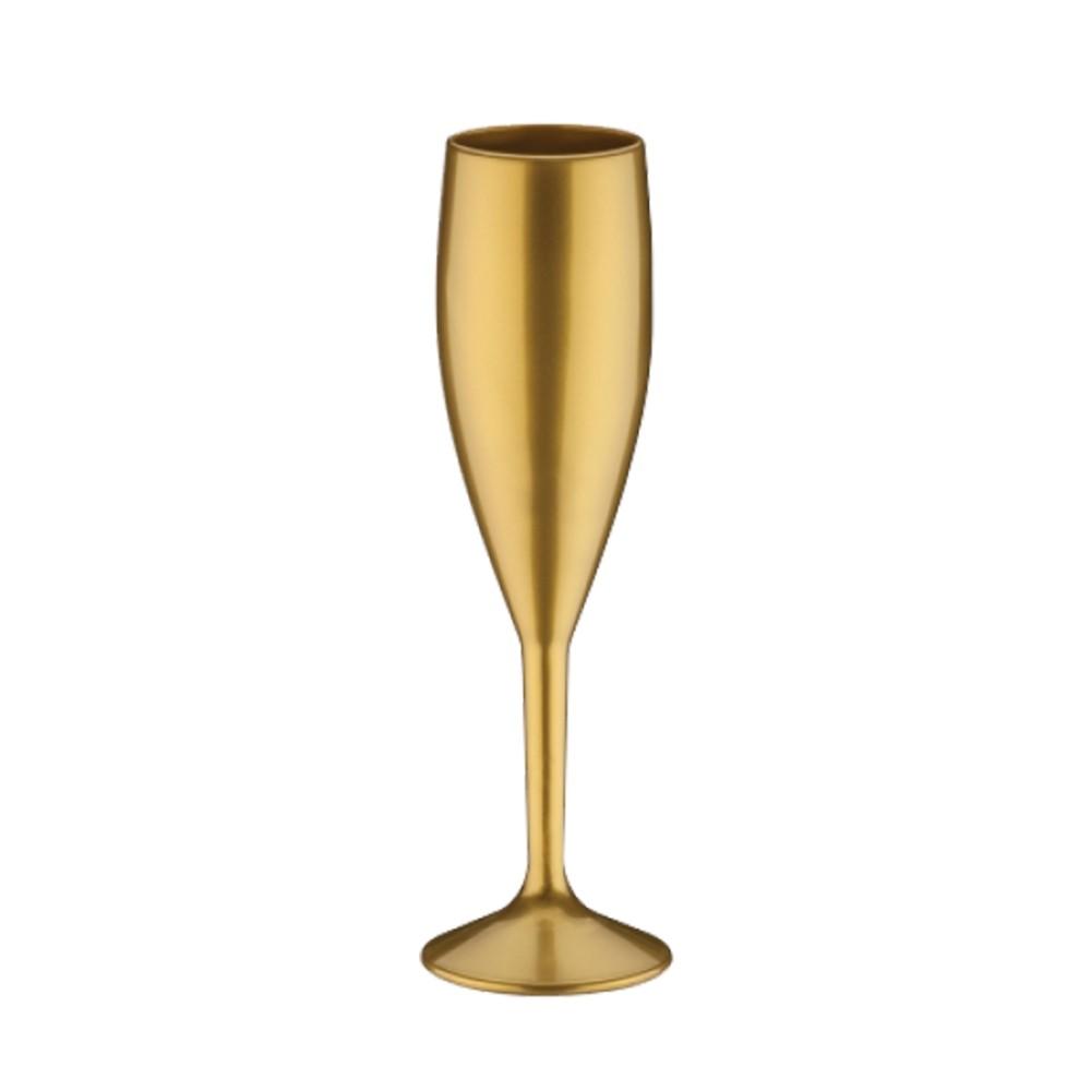 Taça de Champagne Dourado - 160ml  - ALFANETI COMERCIO DE MIDIAS E SUBLIMAÇÃO LTDA-ME