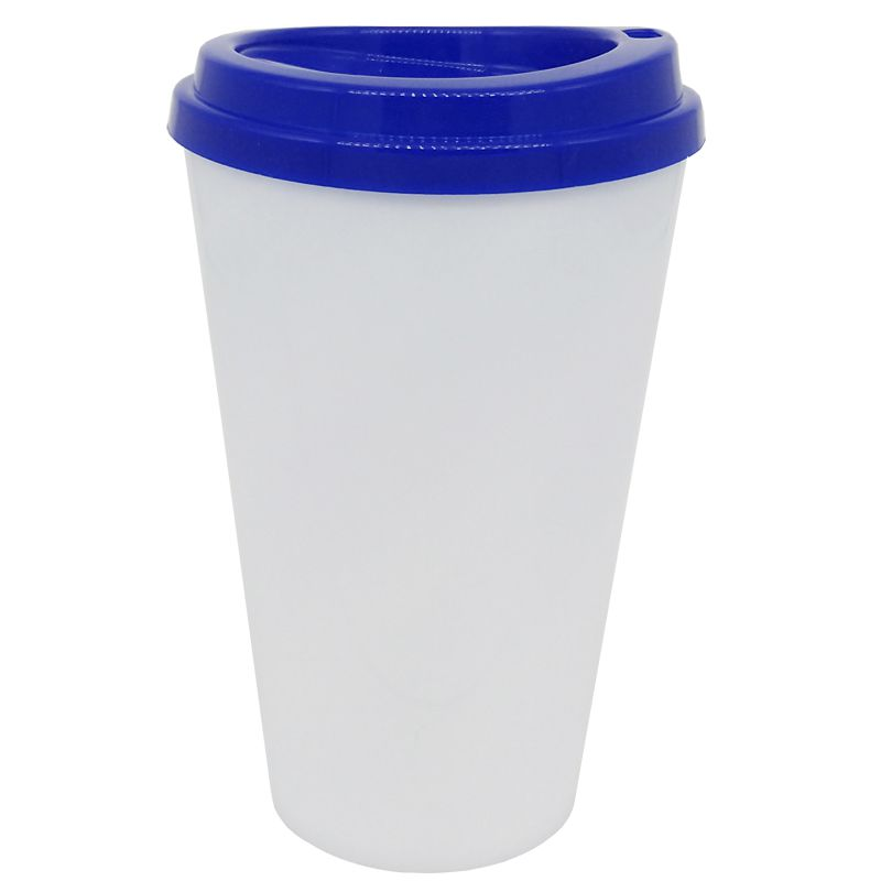 Copo café bucks 500ml - (tampa Azul)  - ALFANETI COMERCIO DE MIDIAS E SUBLIMAÇÃO LTDA-ME