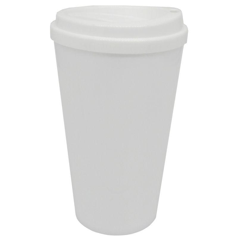 Copo café bucks 500ml - (tampa Branco)  - ALFANETI COMERCIO DE MIDIAS E SUBLIMAÇÃO LTDA-ME