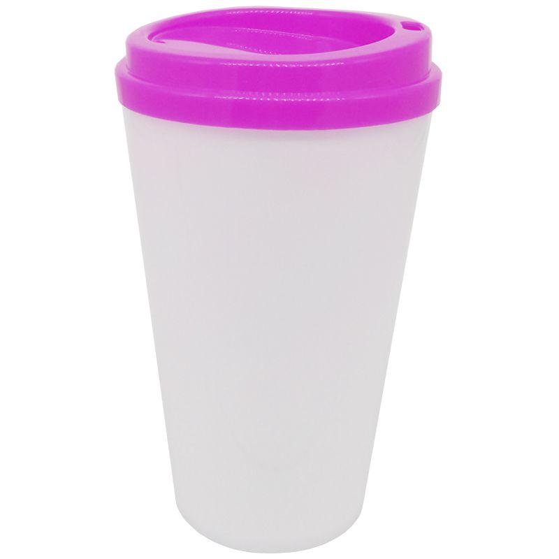 Copo café bucks 500ml - (tampa Rosa)  - ALFANETI COMERCIO DE MIDIAS E SUBLIMAÇÃO LTDA-ME