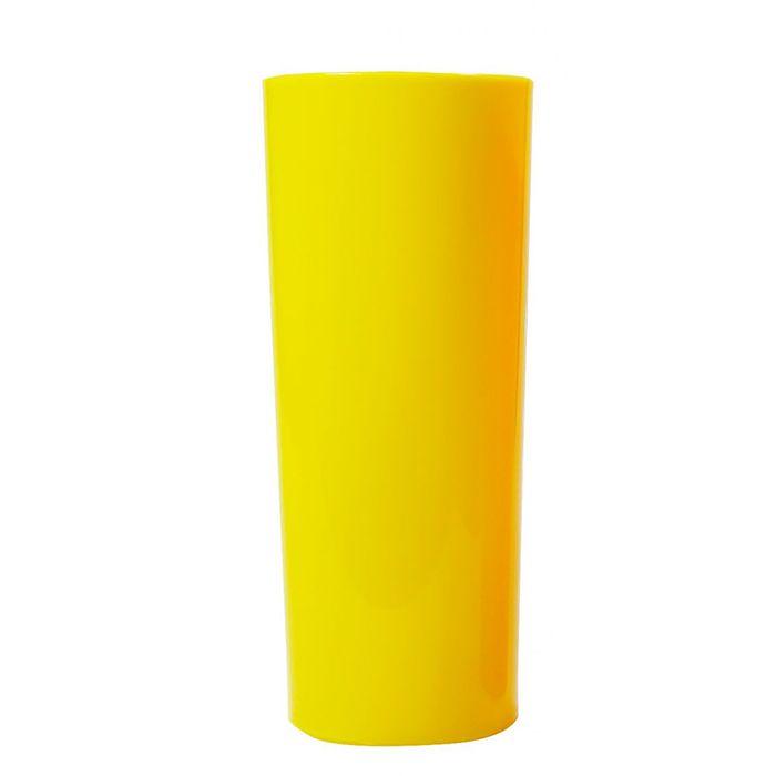 Copo Long Drink de Acrílico Amarelo - 350ml  - ALFANETI COMERCIO DE MIDIAS E SUBLIMAÇÃO LTDA-ME