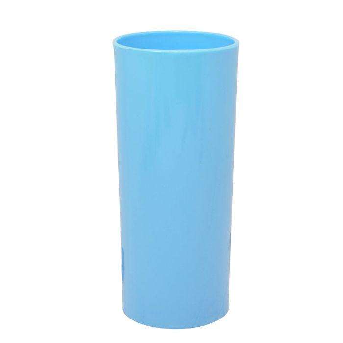 Copo Long Drink de Acrílico Azul Bebe - 350ml  - ALFANETI COMERCIO DE MIDIAS E SUBLIMAÇÃO LTDA-ME