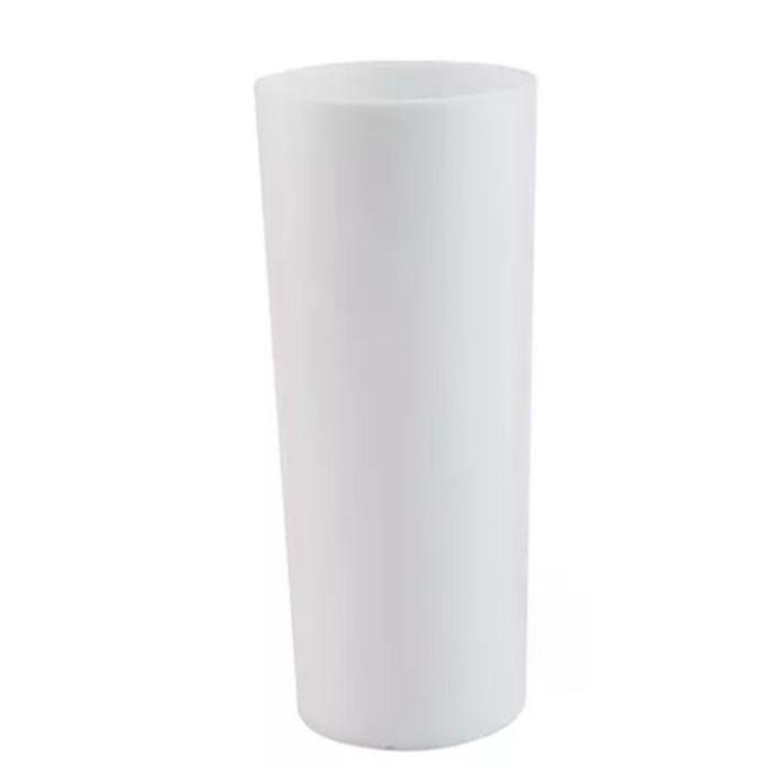 Copo Long Drink de Acrílico Branco - 350ml  - ALFANETI COMERCIO DE MIDIAS E SUBLIMAÇÃO LTDA-ME