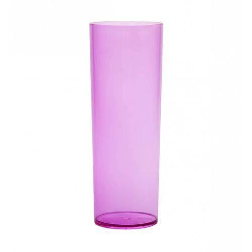 Copo Long Drink de Acrílico Lilás Translúcido - 350ml  - ALFANETI COMERCIO DE MIDIAS E SUBLIMAÇÃO LTDA-ME