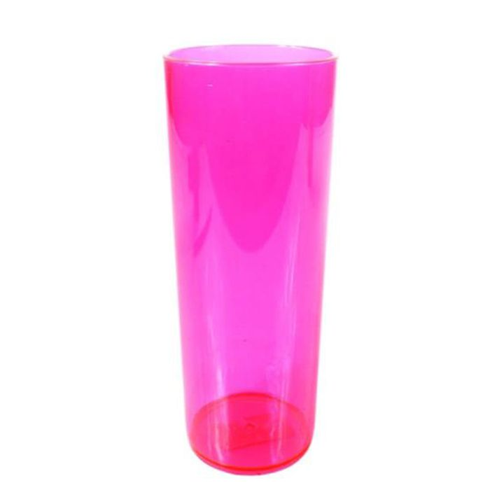 Copo Long Drink de Acrílico Rosa neon - 350ml