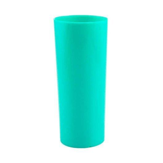 Copo Long Drink de Acrílico Verde Tiffany - 350ml  - ALFANETI COMERCIO DE MIDIAS E SUBLIMAÇÃO LTDA-ME