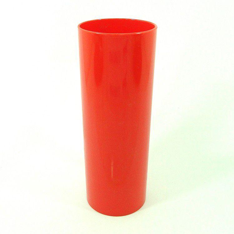 Copo Long Drink de Acrílico vermelho sólido - 350ml  - ALFANETI COMERCIO DE MIDIAS E SUBLIMAÇÃO LTDA-ME