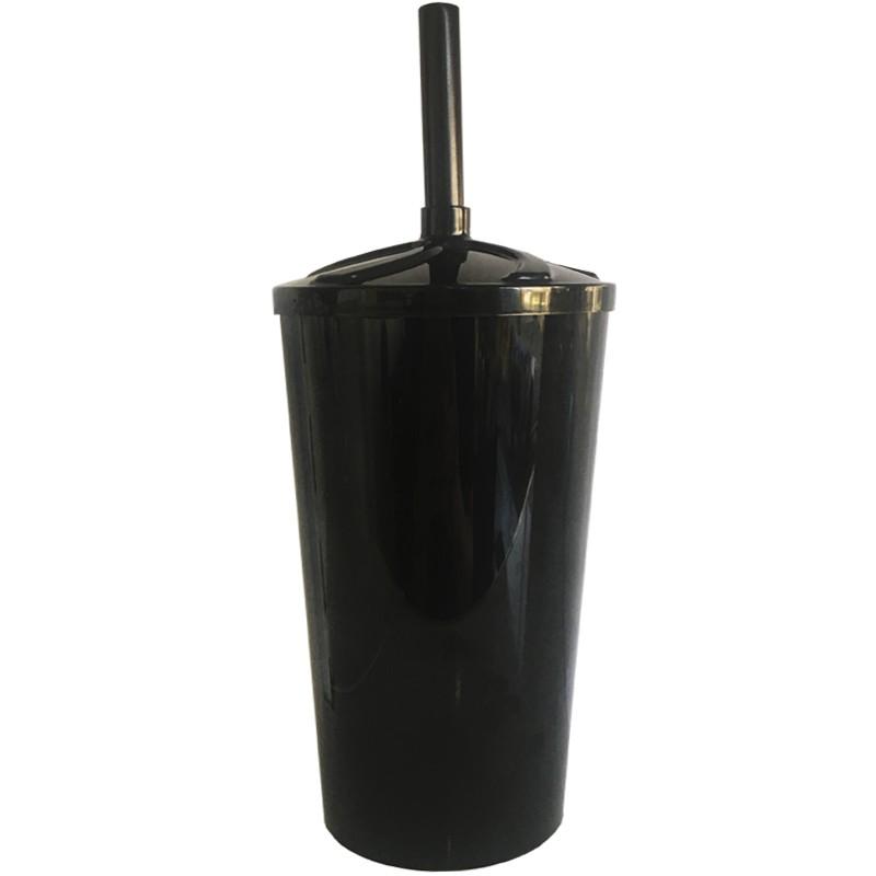 Copo Twister de Acrílico preto e tampa/canudo (PRETO) - 700ml