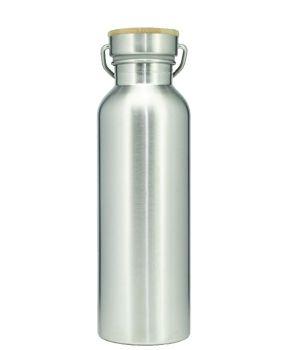 Garrafa térmica de inox 500ml para sublimação (tampa bambu)  - ALFANETI COMERCIO DE MIDIAS E SUBLIMAÇÃO LTDA-ME