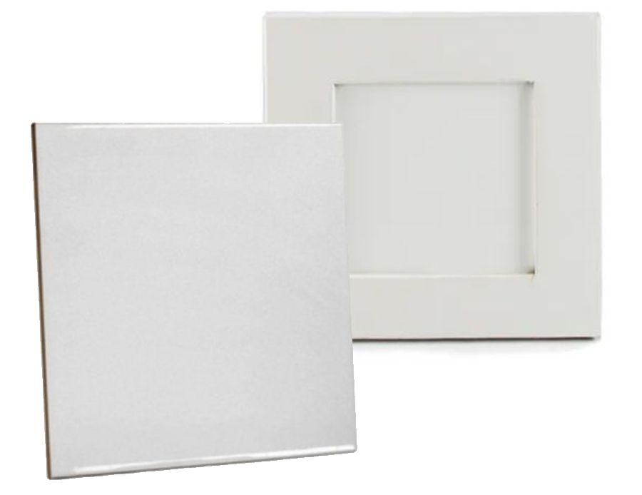 KIT Azulejo Branco de Cerâmica para sublimação 15X15CM + Moldura Sublimática  - ALFANETI COMERCIO DE MIDIAS E SUBLIMAÇÃO LTDA-ME