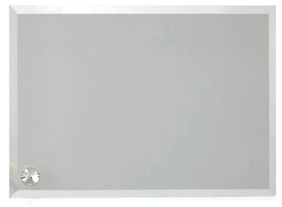 Porta Retrato Para Sublimação em Vidro Temperado Retangular 23cm x 18cm  - ALFANETI COMERCIO DE MIDIAS E SUBLIMAÇÃO LTDA-ME