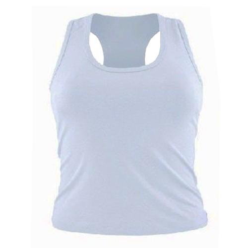 Regata Para Sublimação Feminina Poliamida dry fit - (BRANCO)