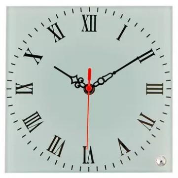 Relógio Para Sublimação Branco com números espelhados 20x20cm
