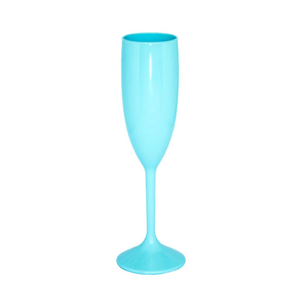 Taça de Champagne Azul Tiffany - 160ml  - ALFANETI COMERCIO DE MIDIAS E SUBLIMAÇÃO LTDA-ME